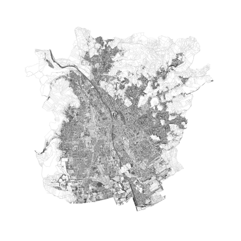 Plan mit Löschung des Grüngürtels von Graz