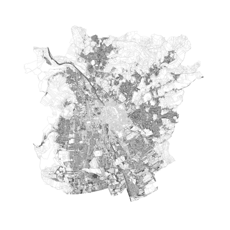 Plan mit Löschungen der nicht zur Disposition stehenden Flächen von Graz
