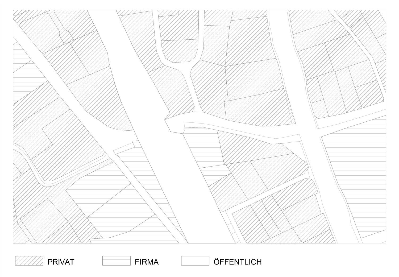 Plan mit Eigentümer der Umgebung des Grundstückes