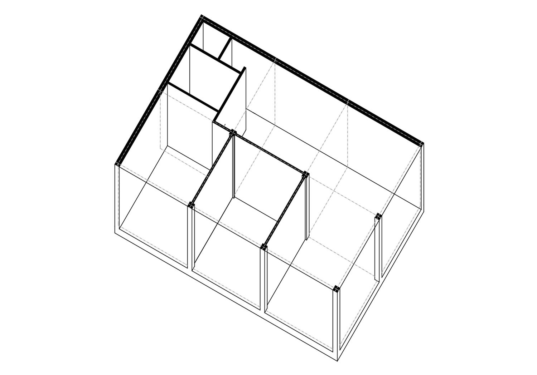 Axonometrie Wohnung 6 Module