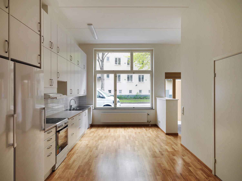 Innenraumfoto vom Modularen Wohnungsbau und Kindergarten Kransbindervägan, Hägersten Stockholm
