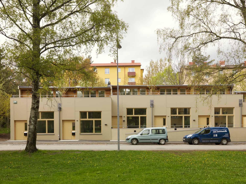 Foto vom Modularen Wohnungsbau und Kindergarten Kransbindervägan, Hägersten Stockholm