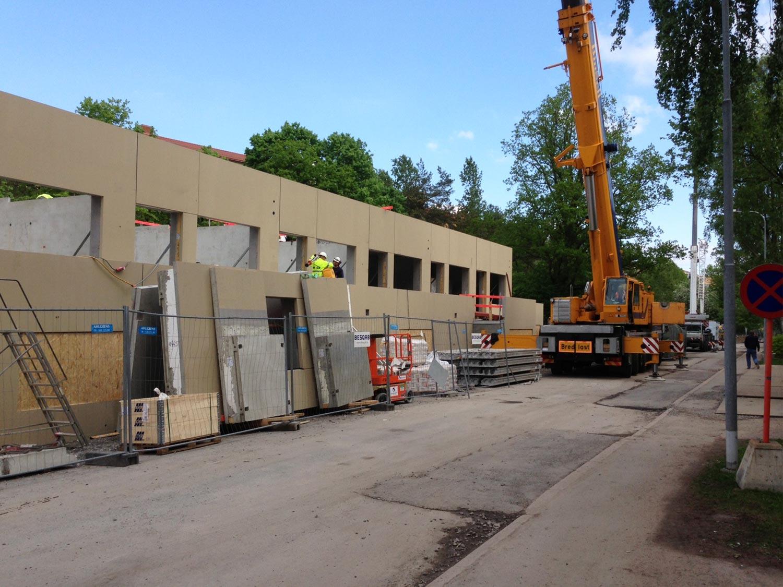 Foto von der Bausstelle Projekt Kransbindervägan, Hägersten Stockholm