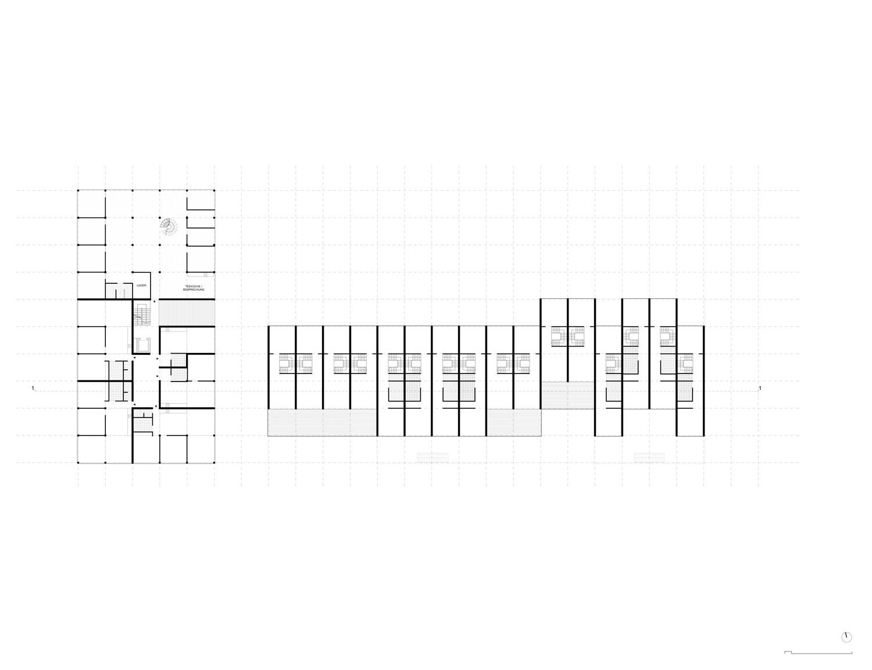 Plan mit Entwurf 2 Fabrikgasse - dargestellt ist 2. Obergeschoß