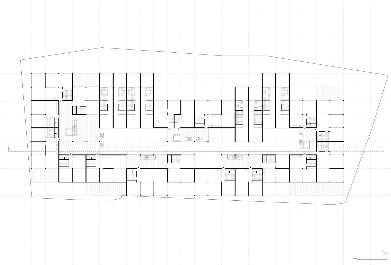 Plan mit Entwurf 3 Fabrikgasse - dargestellt ist 1. Obergeschoß