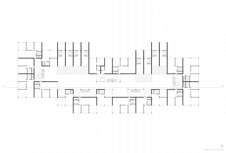 Plan mit Entwurf 3 Fabrikgasse - dargestellt ist ein 2. Obergeschoß