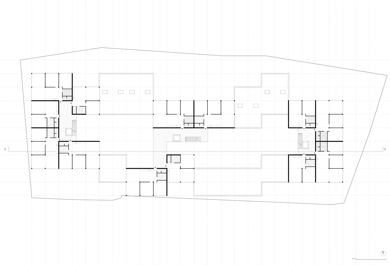 Plan mit Entwurf 3 Fabrikgasse - dargestellt ist 3. Obergeschoß