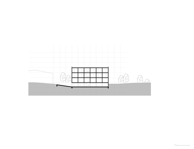 Plan mit Entwurf 4 Exerzierplatzstraße - dargestellt ist ein Schnitt