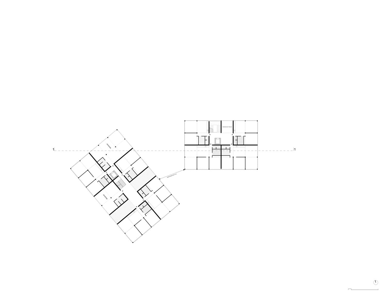 Plan mit Entwurf 5 Exerzierplatzstraße - dargestellt ist das 1. Obergeschoß