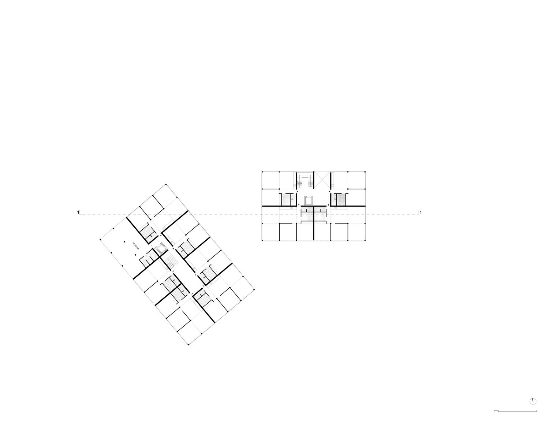 Plan mit Entwurf 5 Exerzierplatzstraße - dargestellt ist das 3. Obergeschoß