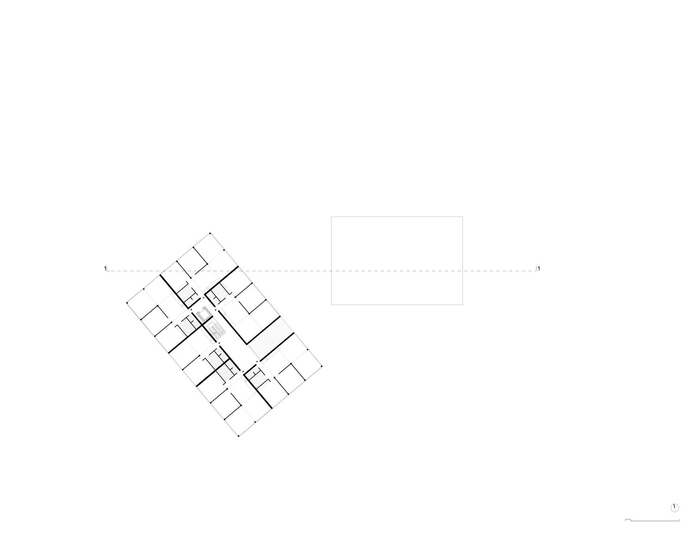 Plan mit Entwurf 5 Exerzierplatzstraße - dargestellt ist das 4. Obergeschoß