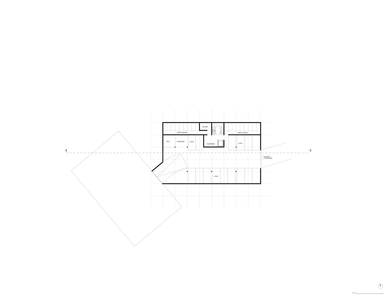 Plan mit Entwurf 5 Exerzierplatzstraße - dargestellt ist das Untergeschoß