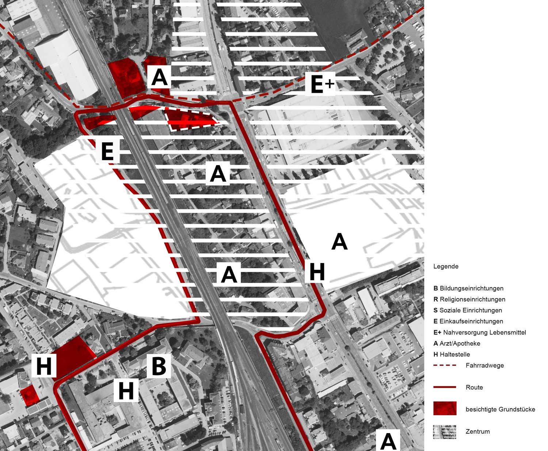 Lageplan mit Luftbild vom Grundstück Exerzierplatzstraße