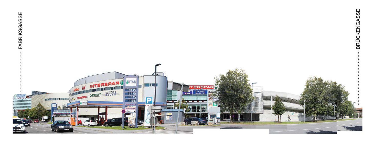 Straßenansicht Fabrikgasse mit Citypark