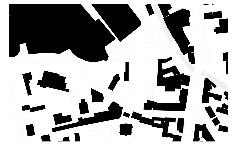 Schwarzplan Grundstück Einfahrt Citypark Fabrikgasse