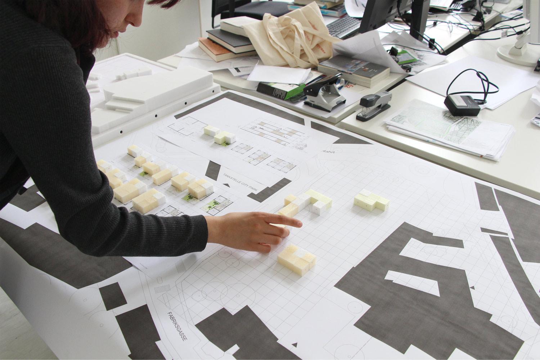 Impression vom Arbeiten am Entwurf