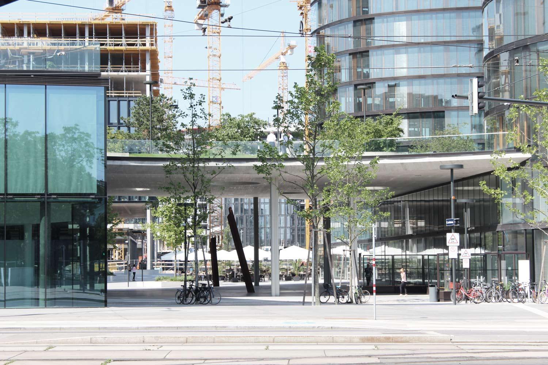 Foto Wien Sonnwendviertel zeigt Durchgang zu Innenhof