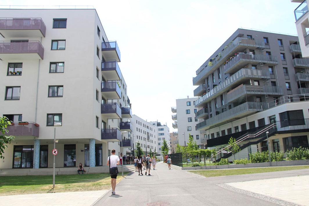 Foto von der Feldforschung im Sonnwendviertel